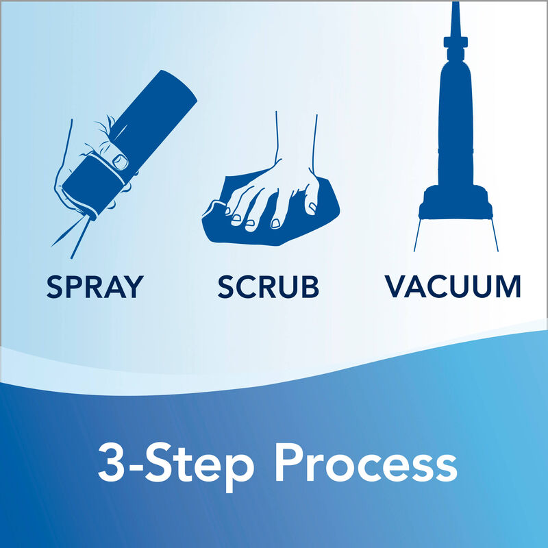 Febreze® Gain™ Original Heavy Traffic® Carpet Foam 3 step process