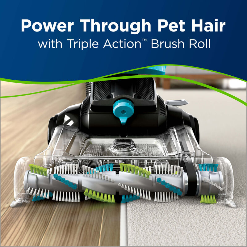 BISSELL CleanView® Swivel Rewind Pet Triple Action Brush Vacuuming
