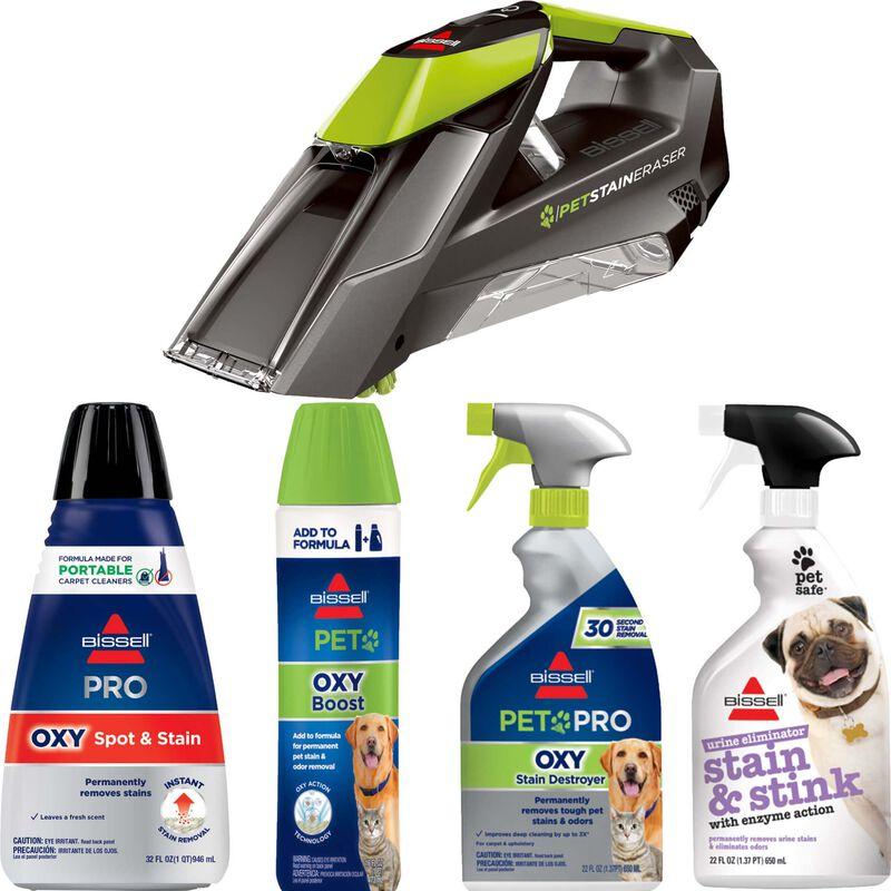 BISSELL Pet Stain Eraser Portable Carpet Cleaner and Formula Bundle B0118