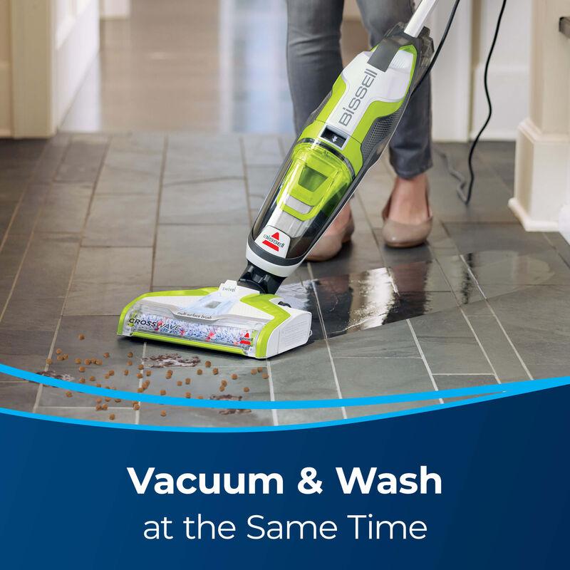 Vac & Wash hard floor Text: Vacuum and Wash at the same time