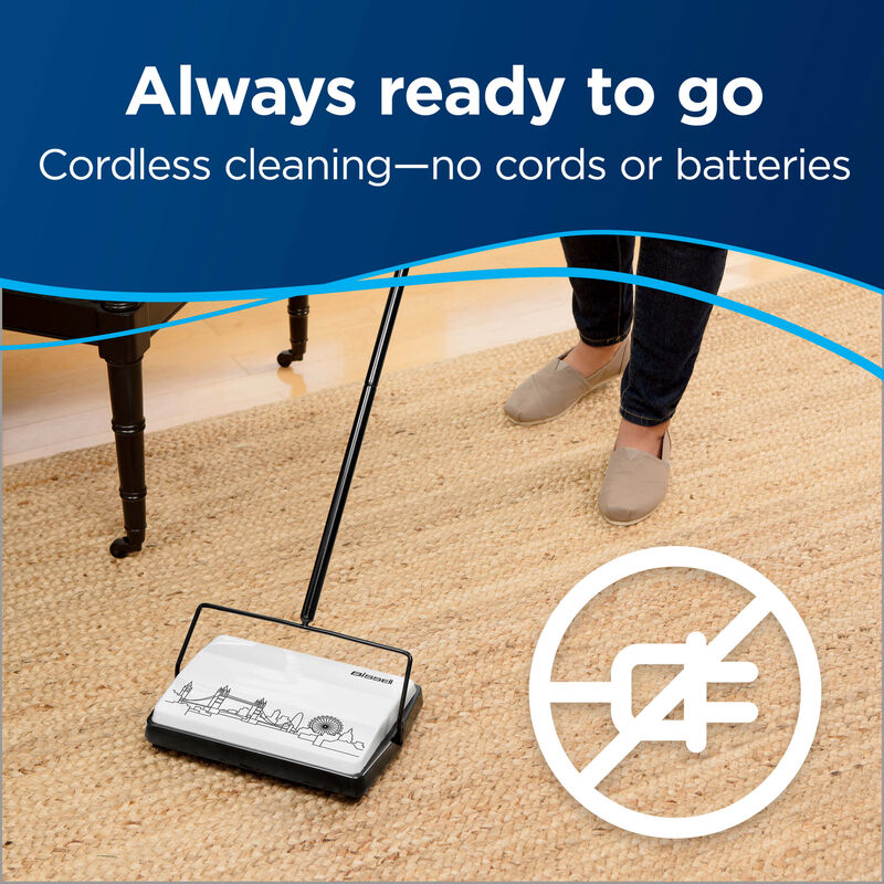 City Sweep Manual Carpet Sweeper Cord Free