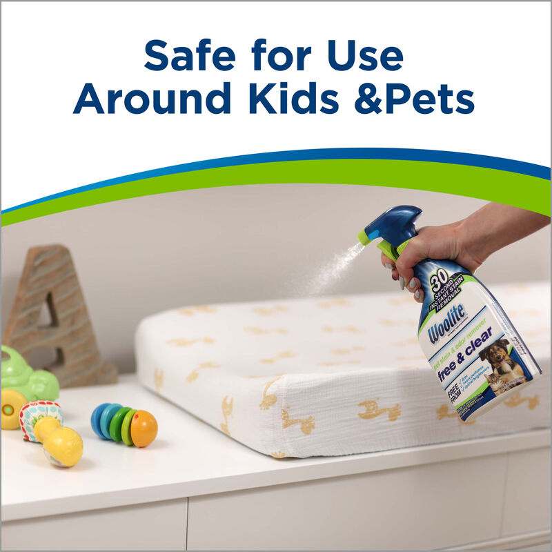 Woolite® Free & Clear Pet Stain & Odor Remover Pretreat Safe Kids Pets