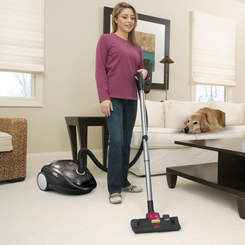 Pet Hair Eraser Cyclonic Canister Vacuum carpet