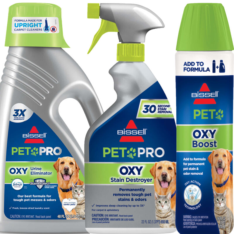 BISSELL Pet Stain Remover Bundle for Upright Carpet Cleaners B0092