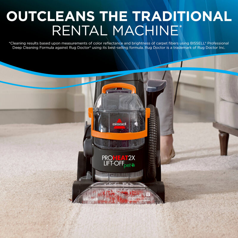 Proheat 2X Lift-Off Detachable Portable Carpet Cleaner Outcleans the Traditional Rental