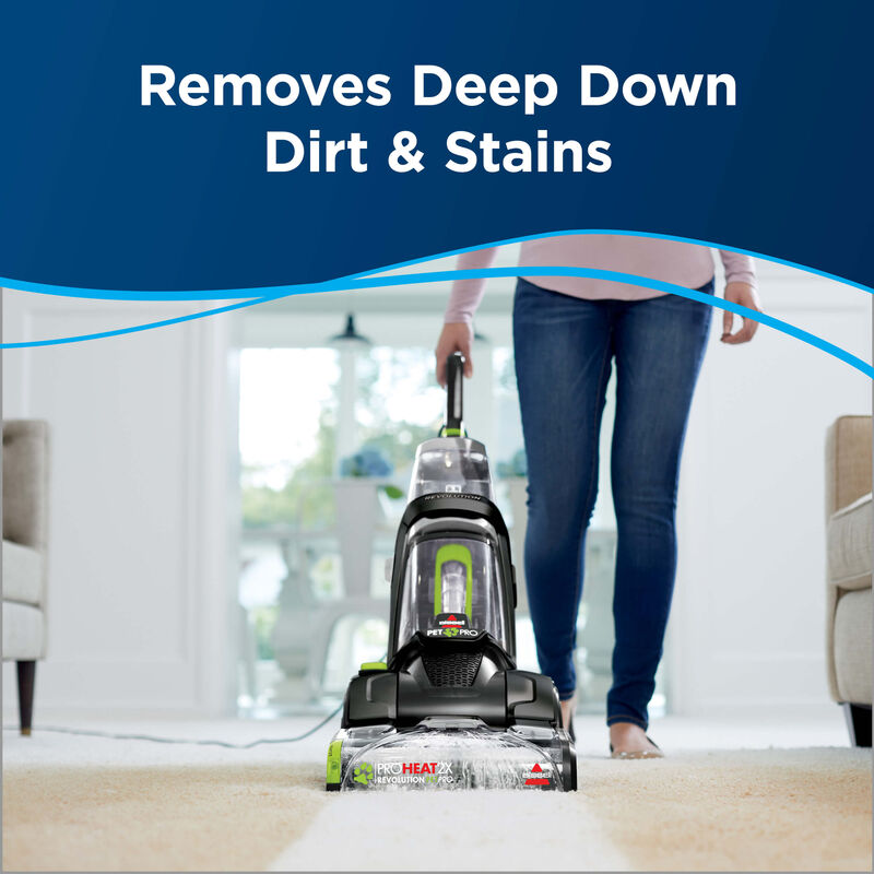 Cleaning surface. Text: Removes deep down dirt and stain