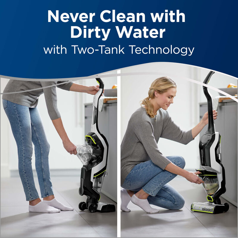 BISSELL CrossWave Cordless Max Floor and Carpet Cleaner with Wet Dry Vacuum 2590 Two Tank