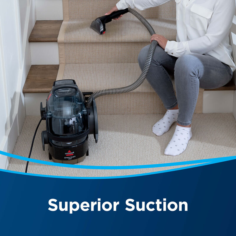 BISSELL SpotClean Pro Portable Carpet Cleaner 3624 Superior Suction