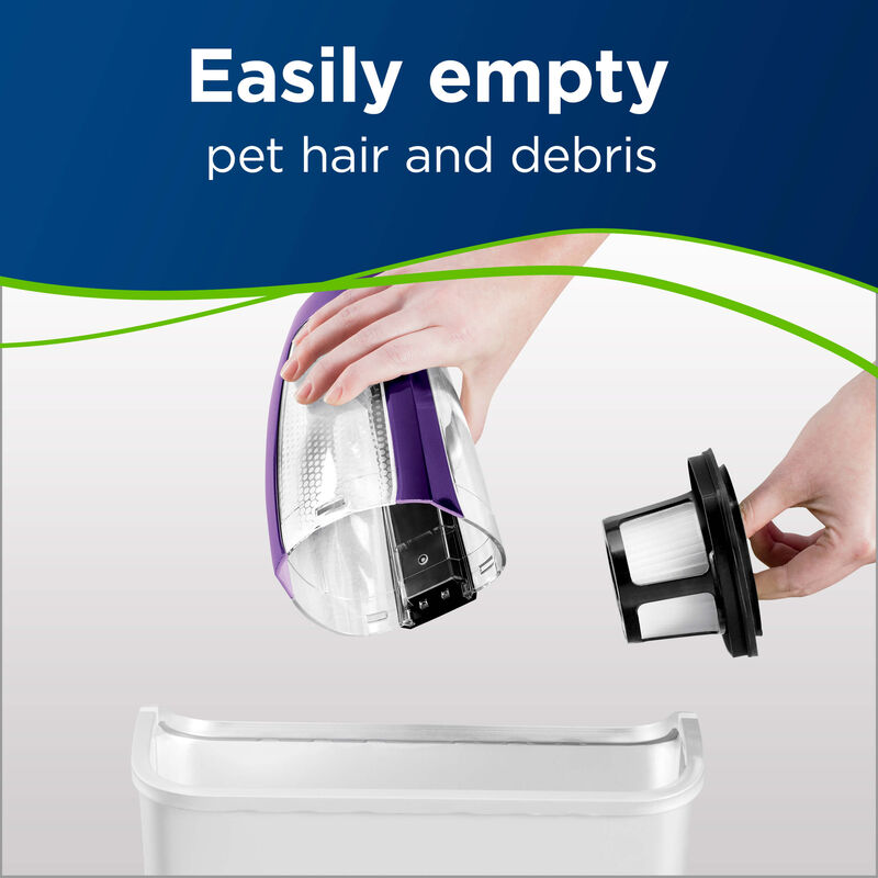 BISSELL Pet Hair Eraser Lithium Ion Hand vac 2390 Vacuuming Easy Empty