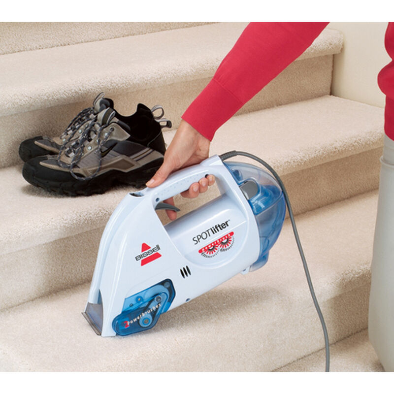 Spotlifter Powerbrush Portable Carpet Cleaner 1716 stair cleaning
