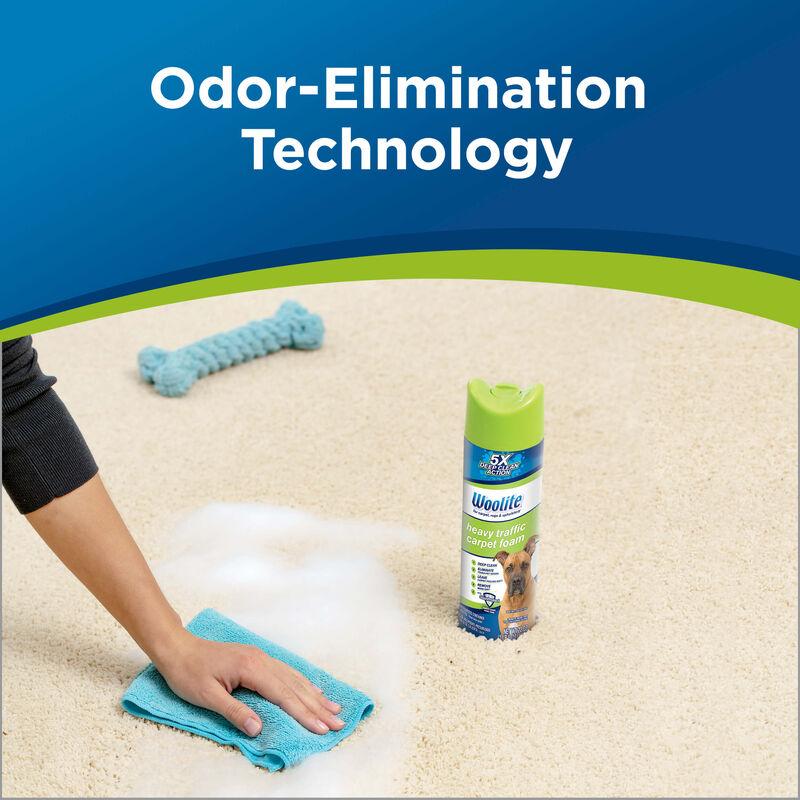 Woolite Heavy Traffic Foam Carpet Cleaner 0820 Odor Elimination Technology