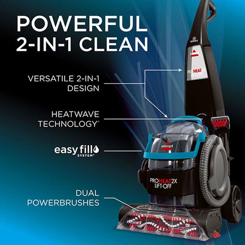 Proheat 2X Liftoff Carpet Cleaner 1565 2 in 1