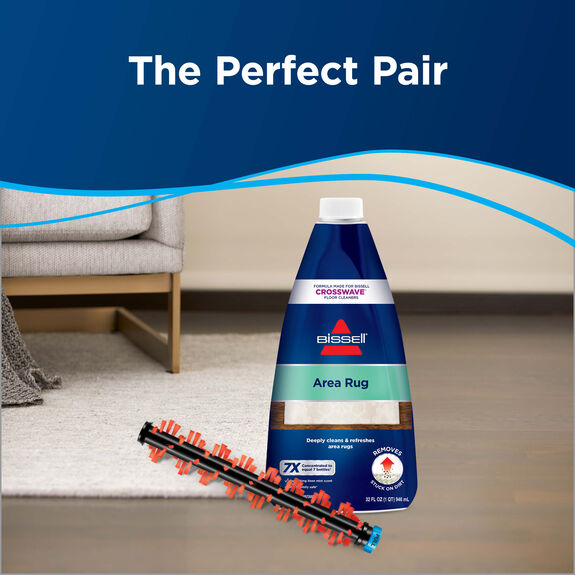 Brush Roll Bissell Crosswave Wet Dry Vacuum Gentle Clean Area Rug for 1608017
