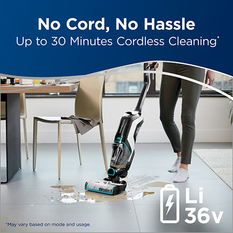 CrossWave Cordless Max Wet Dry Vac 2596 BISSELL Hard Surface