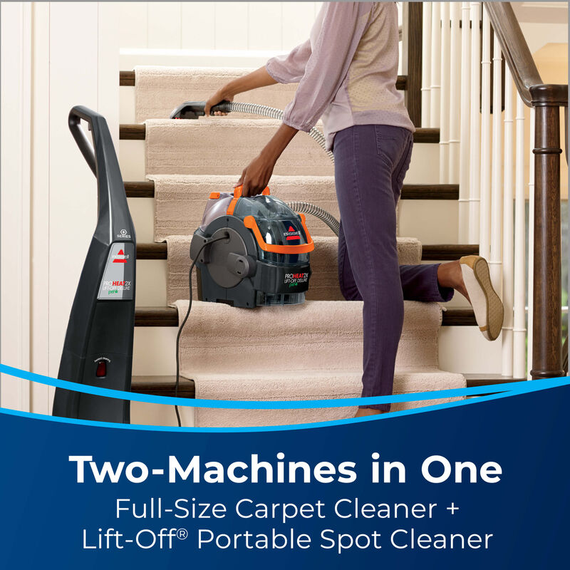 BISSELL ProHeat 2X® Lift-Off® Pet Upright Carpet Cleaner 15651 2 machines in 1