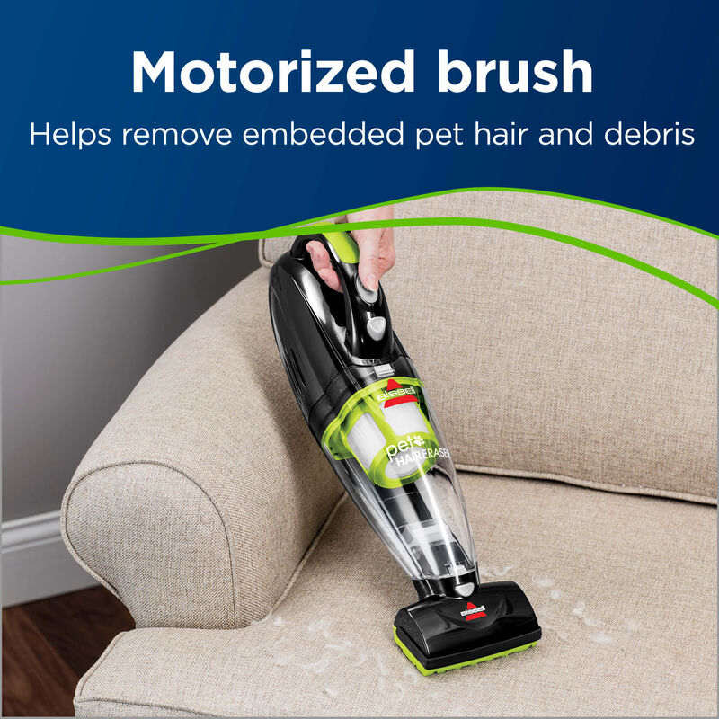 Pet Hair Eraser Cordless Hand Vac Motorized Brush Roll