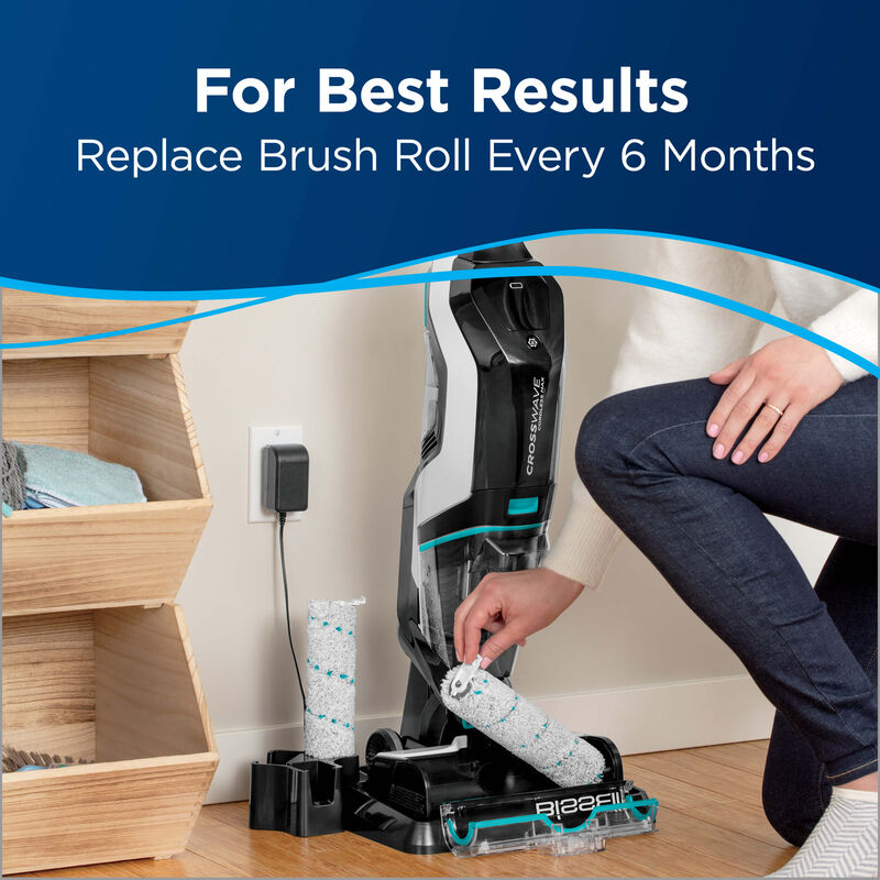 Wood Floor Brush Roll 1618640 BISSELL CrossWave Cordless Max Tough Messes
