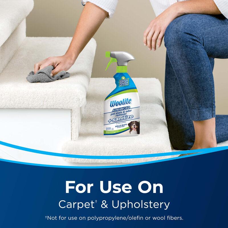 Woolite Advanced Pet Stain & Odor Remover + Sanitize Formula 11521 Use
