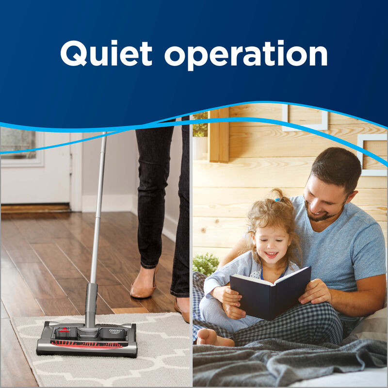 Perfect Sweep Turbo Cordless Sweeper Quiet Opperation