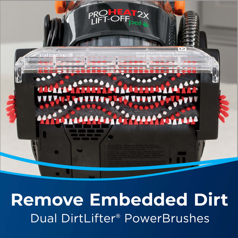 BISSELL ProHeat 2X® Lift-Off® Pet Upright Carpet Cleaner 15651 Embedded Dirt