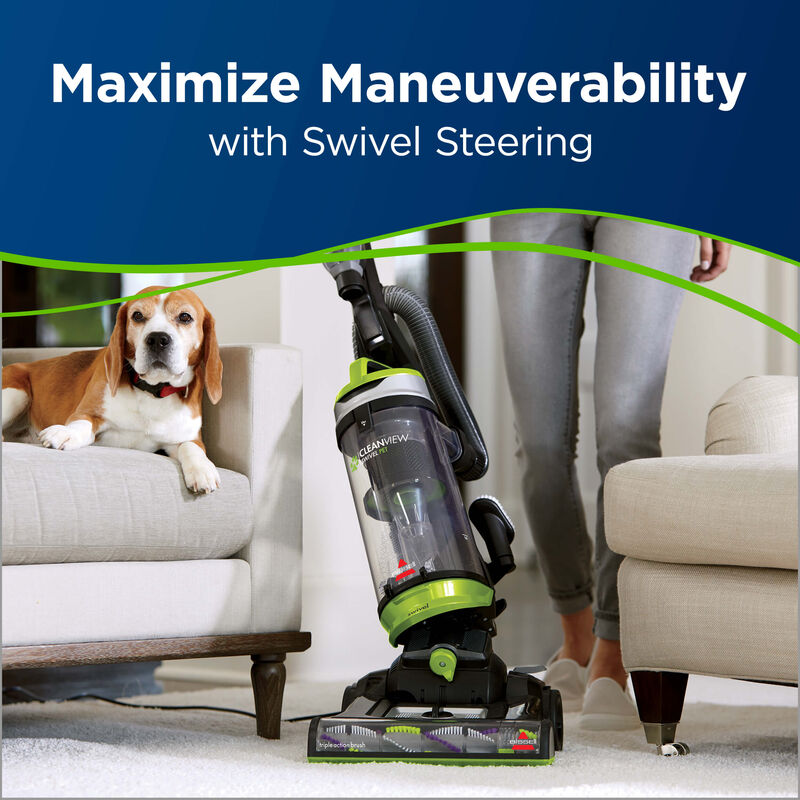 Cleanview Swivel Pet Maneuverable with Swivel Steering