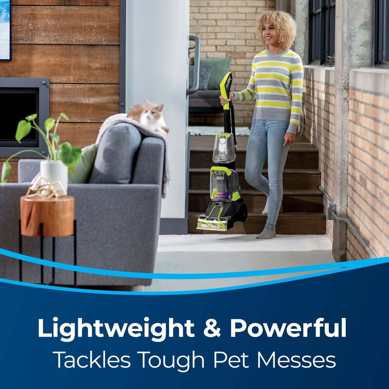 BISSELL TurboClean PowerBrush Pet Carpet Cleaner 2987 Lightweight