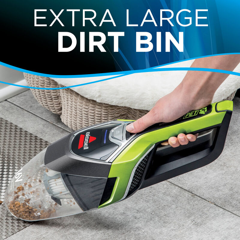 Bolt Lithium Ion Pet Hand Vac Large Dirt Bin