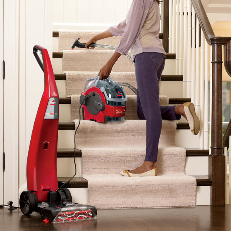 BISSELL ProHeat 2X® Lift-Off® Pet Upright Carpet Cleaner 1565T Stairs
